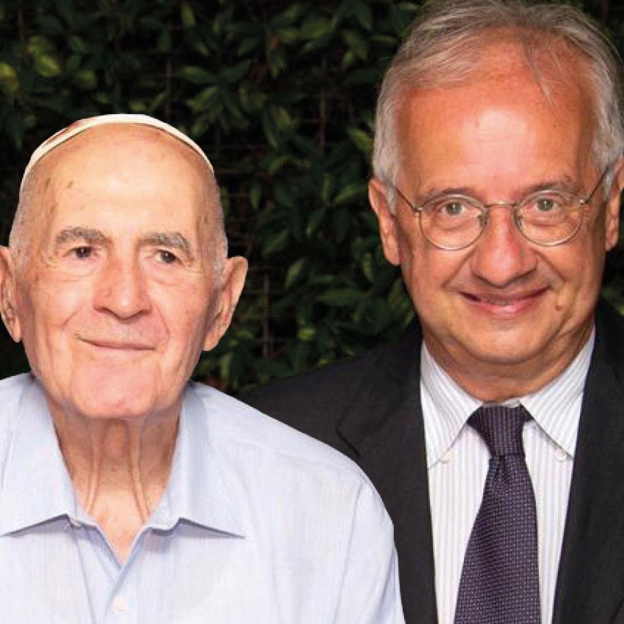 Sami Modiano e Walter Veltroni